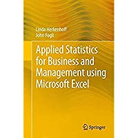 Applied Statistics for Business and Management using Microsoft Excel【洋書】 [並行輸入品]