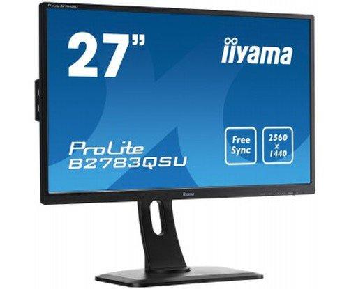 iiyama WQHD対応 27型ワイド液晶ディスプレイ(27inch/TN/2560x1440/DVI-D/HDMI/DisplayPort/昇降スタンド) B2783QSU-B1