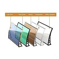 LPD ウィンドウオーニングドアキャノピーポリカーボネート屋外パティオキャノピーサイレント雨雪のために屋外のパティオの家具は、利用可能な戸口複数のサイズを保護します (Color : Brown, Size : 80*100)