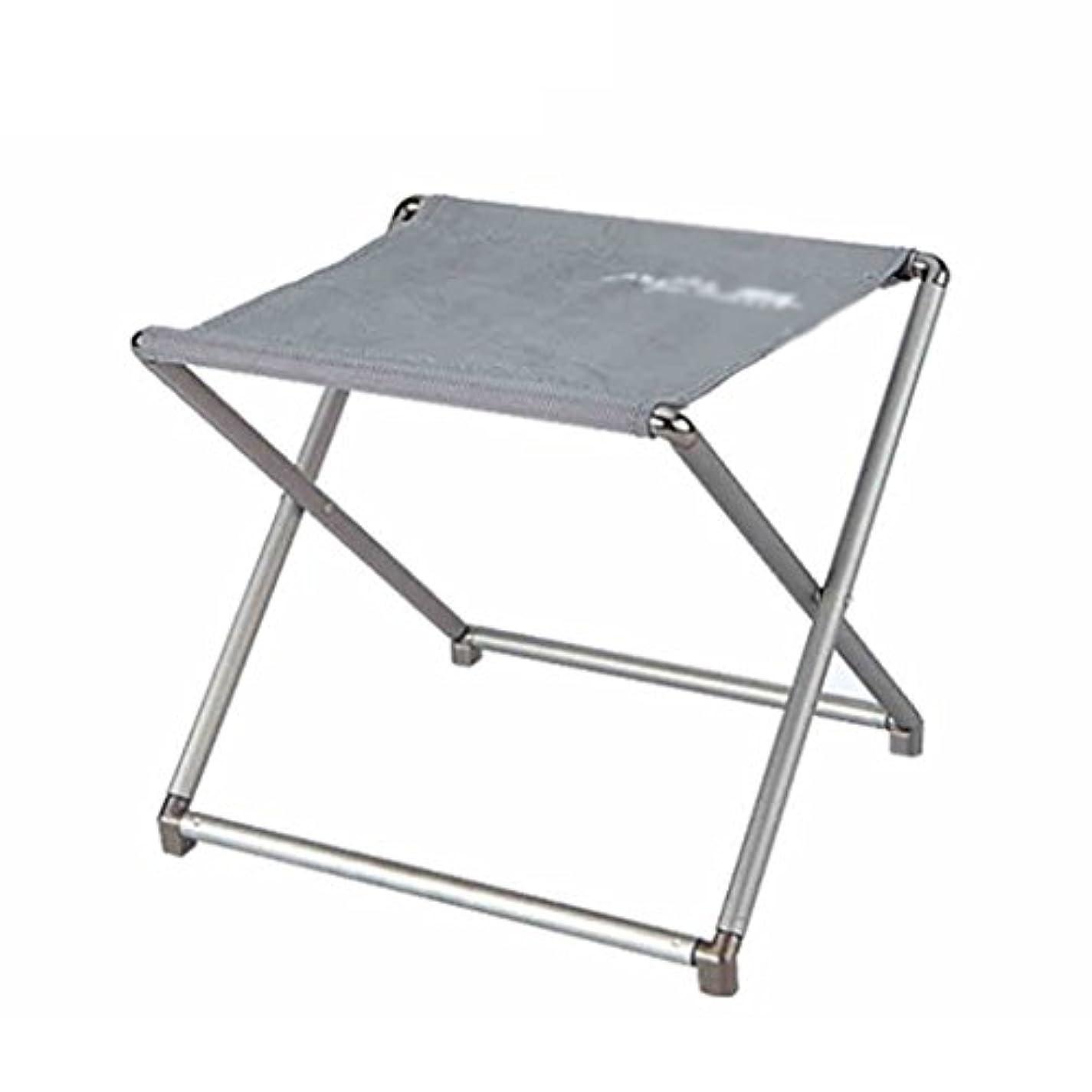 ジェーンオースティン一掃する冷ややかなチェア?テーブルアクセサリ 屋外折り畳み椅子のスツール釣りの椅子釣りのスツールアルミ合金ポータブル超軽量ポータブル重荷重軸受小型サイズ (Color : Gray, Size : 26*22.5*23cm/10*8.9*9inch)