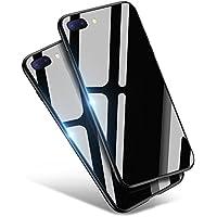 iPhone8 Plus ケース / iPhone7 Plus ケース, Aunote TPUと強化ガラスがジャストフィット 強化ガラスケース レンズ保護 耐衝撃 極薄 耐久 ハードケース Qi充電対応 アイフォン8プラス ケース / アイフォン7プラス ケース(iPhone8 プラス / iPhone7 プラス 用 ブラック)
