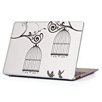 "MacBook Air 13inch 2018/2019モデル / A1932 専用ハードケース マックブック エア Mac 13"" インチ 専用 ケース カバー クリア アクセサリー 保護 (2010年 ~ 2017年モデル 非対応) 010035 鳥 植物 シンプル"