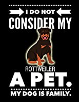 I Do Not Consider My Rottweiler A Pet.: My Dog Is Family.