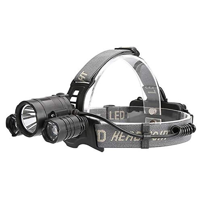 寛大さである文明化ヘッドランプ、グレアセンサーヘッドライト、3LEDヘッドライト、スマートセンサー付き、キャンプ釣り用ハイキング自転車狩猟
