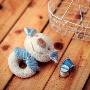 (ハマナカ) ベビー 赤ちゃん おもちゃ の 手作りキット がらがら いぬ ※オーガニックコットン 使用
