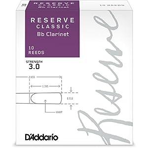 D'Addario リード レゼルヴ クラッシック B♭クラリネット 強度:3.0(10枚入) ファイルドカット DCT1030