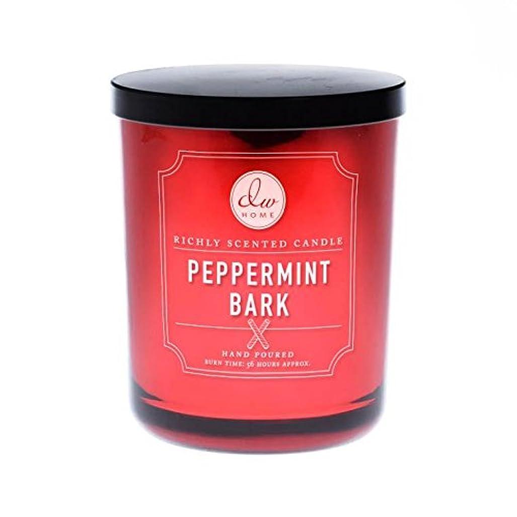 ぐったり第二にページェントDWホームLarge 2 Wick Peppermint Bark Candle
