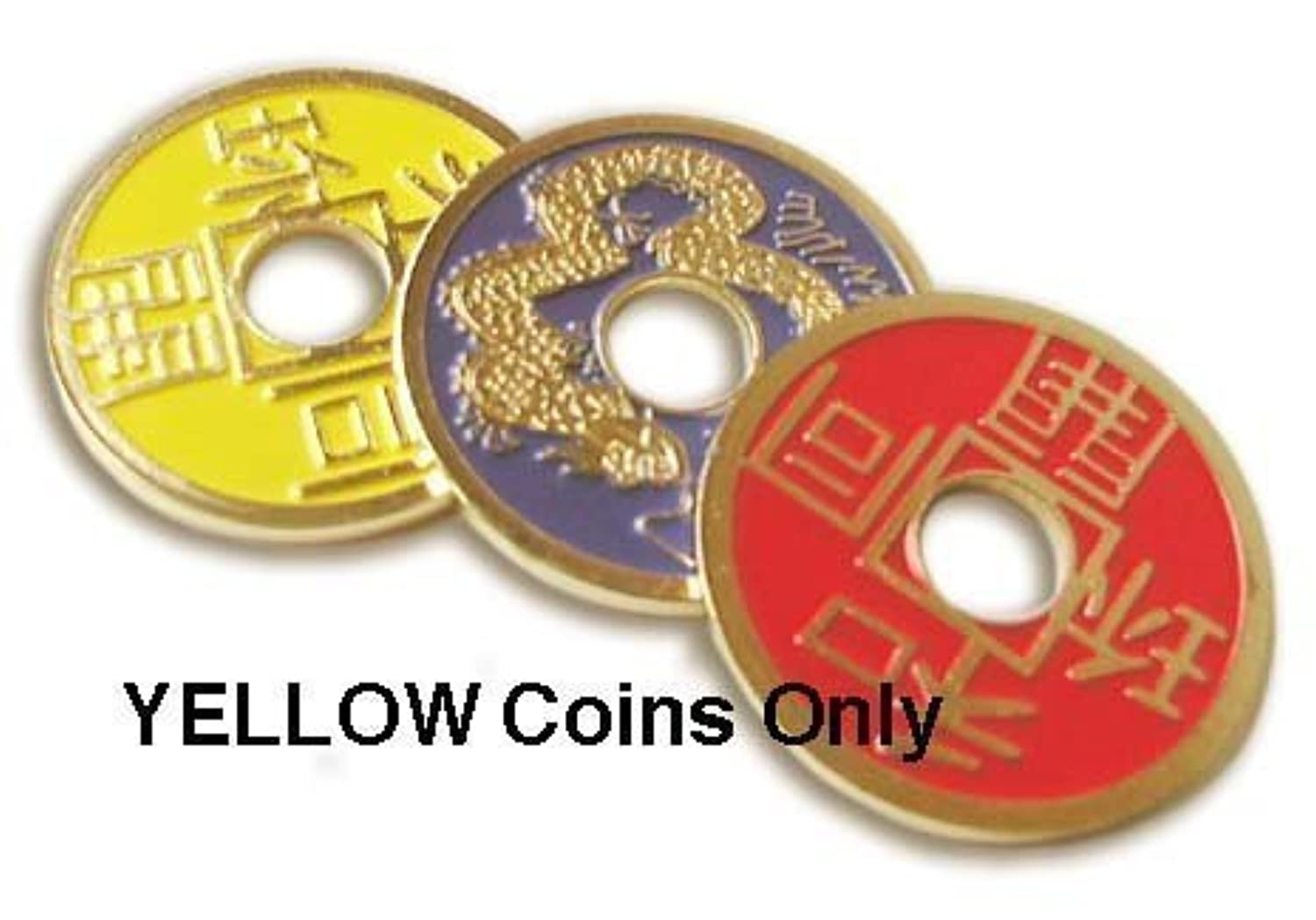 Chinese Coin - YELLOW - Perfect for All of Your Routines. by Royal Magic [並行輸入品]