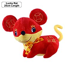 Zodiac Rat Plush Toy - Lucky Rats 25cm