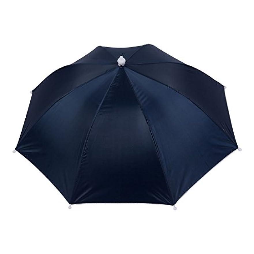 アレルギー性ファンルビーuxcell 釣り傘 傘帽子 釣り用 ヘッドバンド 傘帽子 ストレッチヘッドバンド 帽子 ネイビーブルー 釣り 雨 ポリエステル プラスチック
