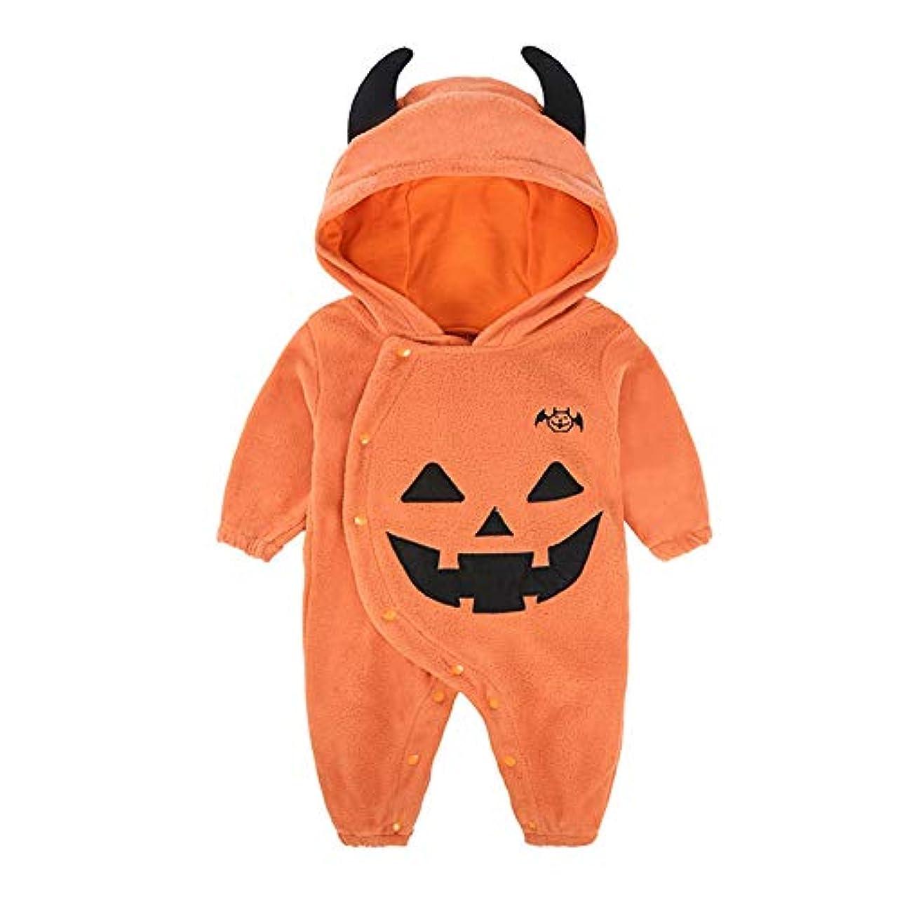 家畜実質的頭蓋骨ACHICOO ジャンプスーツ かわいい 暖かく 快適な ハロウィーン 赤ちゃん 男の子 女の子 秋 冬 示されるように 90#