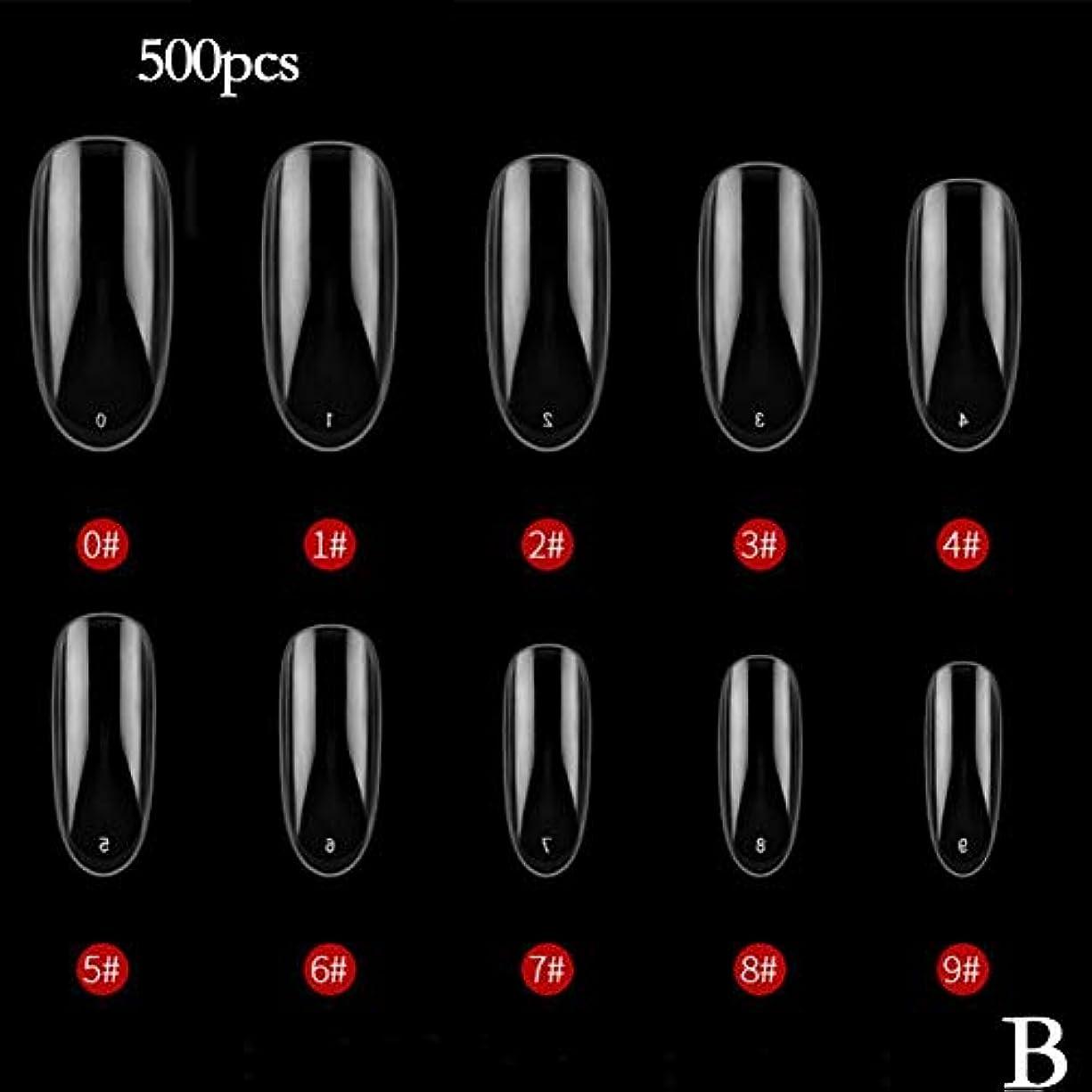 歯科医劇作家電球BETTER YOU (ベター ュー) ネイルチップ、ナチュラルカラー、透明色、接着しやすい、剥がれない、ネイルテープ、2色 (B 透明)