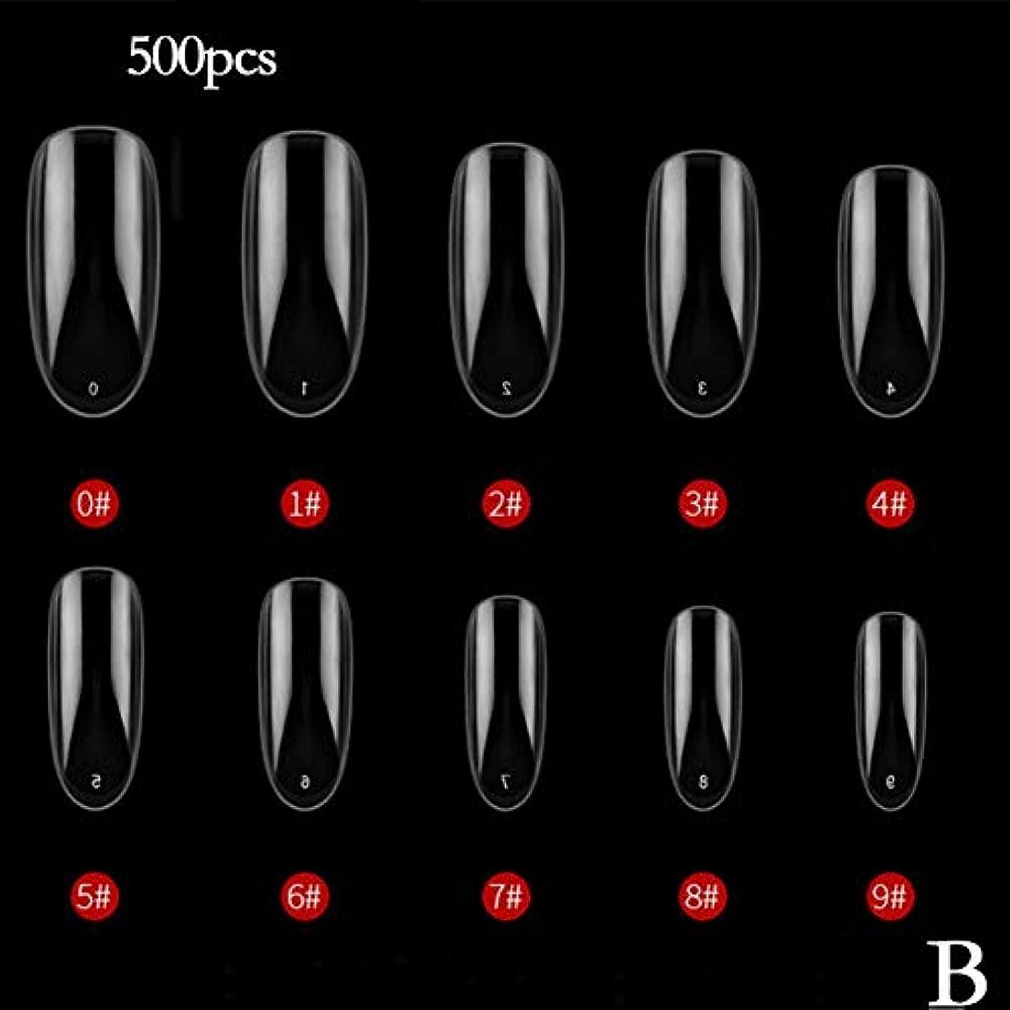 サミット繰り返す煙突BETTER YOU (ベター ュー) ネイルチップ、ナチュラルカラー、透明色、接着しやすい、剥がれない、ネイルテープ、2色 (B 透明)