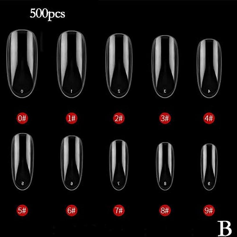 ゴールイベント歯科医BETTER YOU (ベター ュー) ネイルチップ、ナチュラルカラー、透明色、接着しやすい、剥がれない、ネイルテープ、2色 (B 透明)
