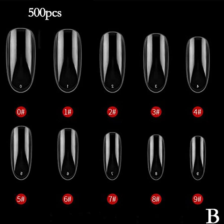 コンセンサストースト誰のBETTER YOU (ベター ュー) ネイルチップ、ナチュラルカラー、透明色、接着しやすい、剥がれない、ネイルテープ、2色 (B 透明)