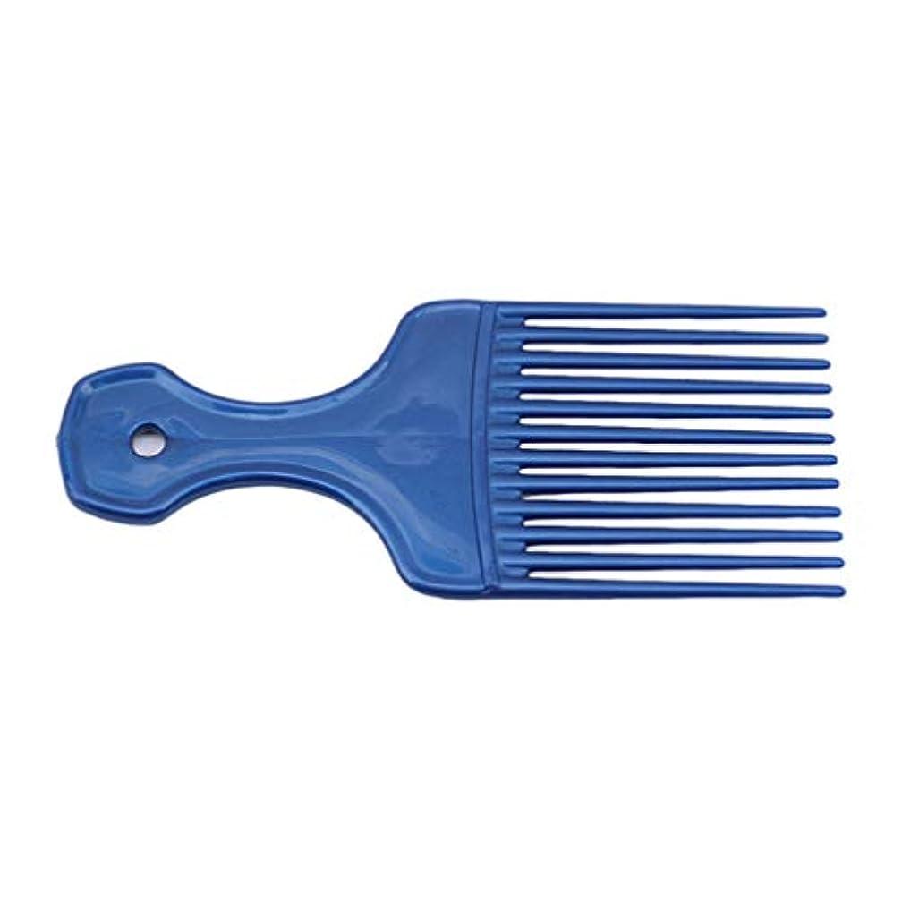 漫画大胆航空会社LJSLYJ カーリーヘアスタイリングツールヘアピックコームヘアブラシ用プラスチック高低コーム、青