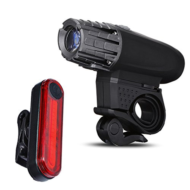 USBヘッドライトテールライト警告ライト320ルーメンヘッドライトキットバイクヘッドライトテールランプ