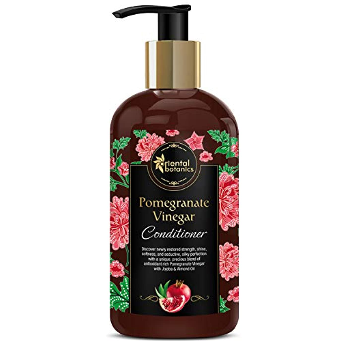 より良い船酔い資本主義Oriental Botanics Pomegranate Vinegar Conditioner - For Healthy, Strong Hair with Antioxidant Boost & Golden Jojoba...