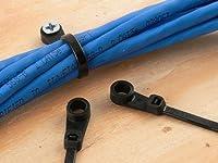 6インチブラックマウントヘッドZip Tie–100パック