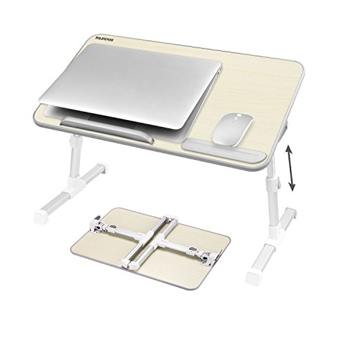 NEARPOW 折りたたみ式ノートパソコンスタンド ベッドテーブル ローテーブル 机上台 高さ 角度調節可能 多機能 ベッド ソファ オフィス 食事 利用可 (ホワイト)