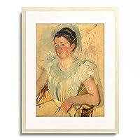メアリー・カサット Mary Stevenson Cassatt 「Portrait of Katherine Kelso Cassatt or Woman in a white dress」 額装アート作品