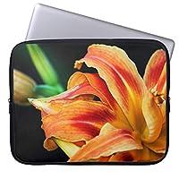 UDDESIGNオレンジワスレグサの花の終わり 13.3インチ PCインナーバッグ 防水 マックブックケース ラップトップ ノートパソコン/MacBook Pro用
