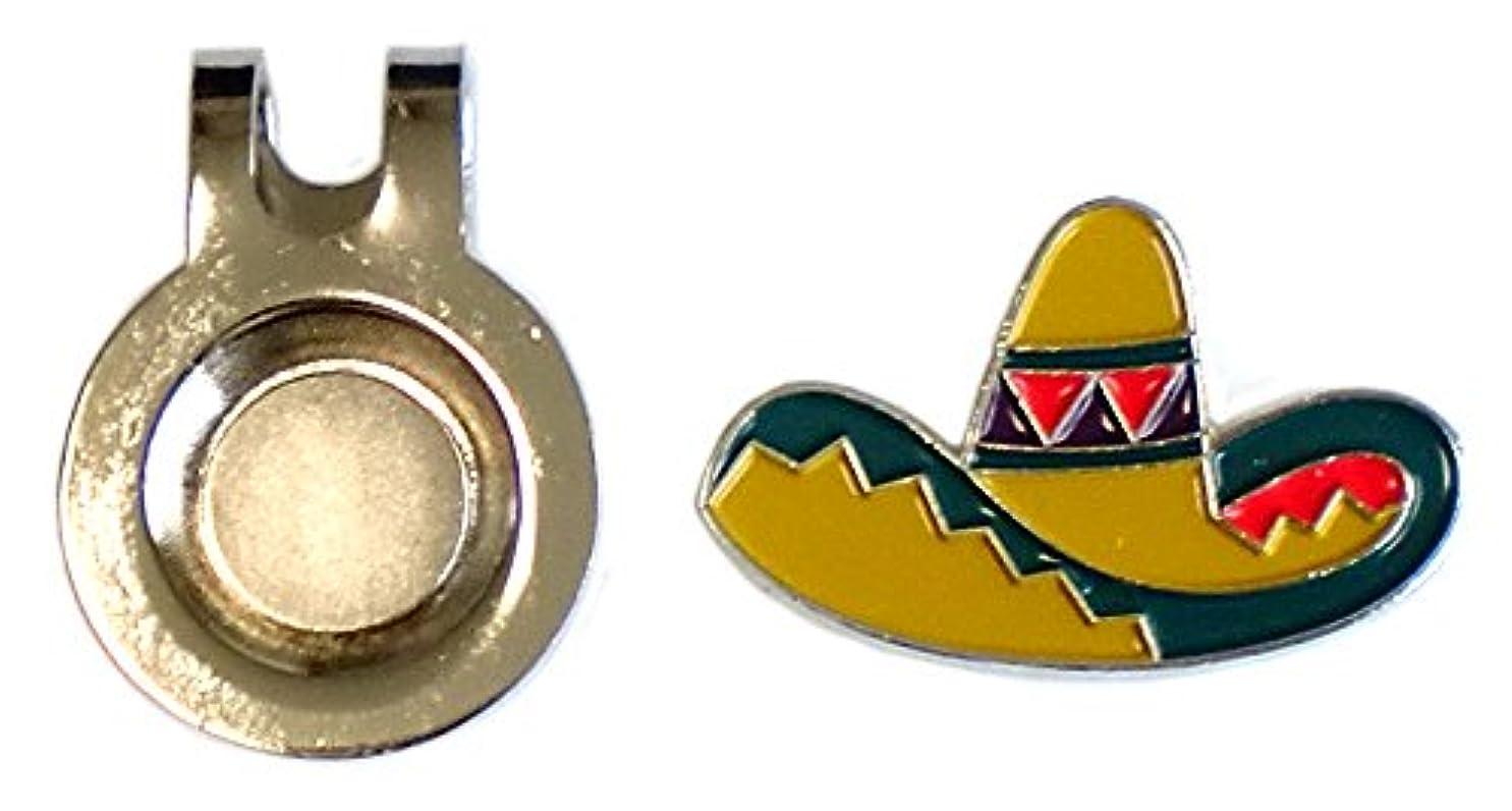 スイングトランスミッションルーチンメキシカンハット デザイン クリップ&ボールマーカー ゴルフマーカー
