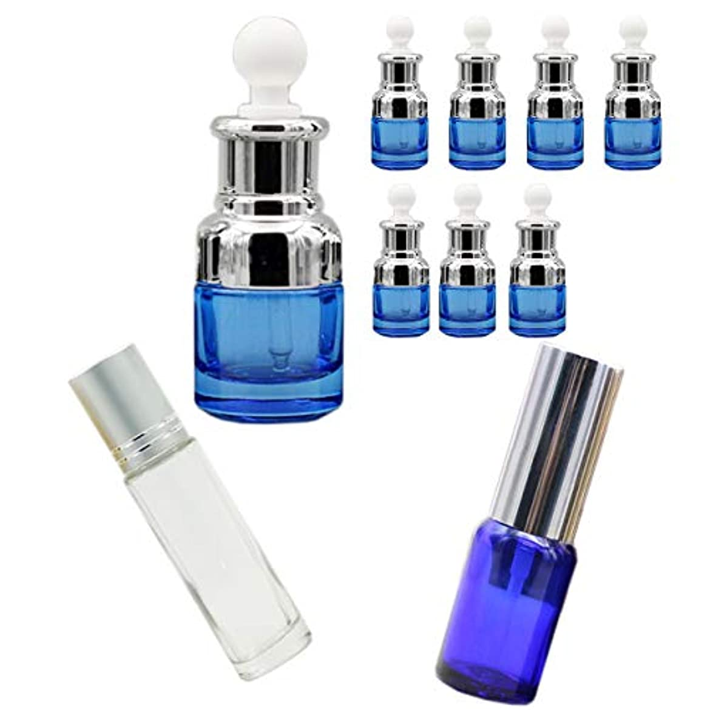 ホステルポール依存するHAMILO スポイト付き遮光瓶 スプレー付き遮光瓶 ロールオンボトル アロマ エッセンシャルオイル (10本セット)