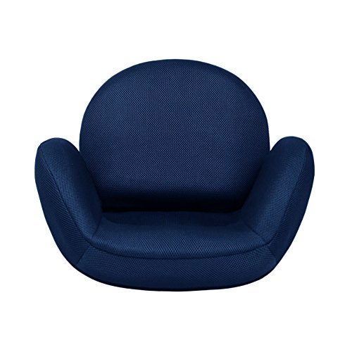 tegopo 座椅子 コンパクト メッシュタイプ 6段階調節リクライニング リクライニングチェアー 腰痛 骨盤 幅55cm*奥44cm*高41cm TZ001-M1 ネイビー色