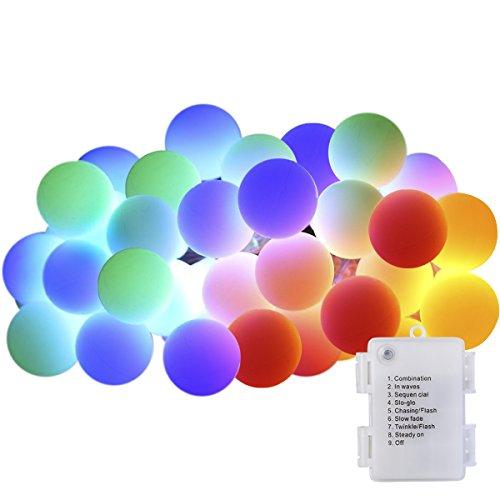 GreenClick イルミネーションライト LEDライト 室内 40球 乾電池式 防水 全長4.5m クリスマス 電飾 クリスマスツリー (彩色)
