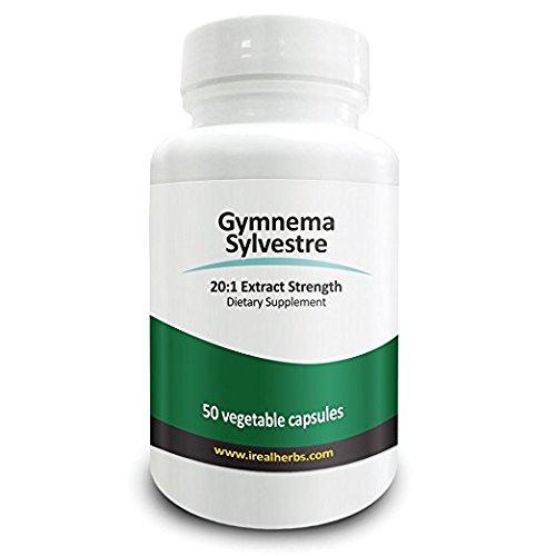 Real Herbs の ギムネマ (Gymnema Sylvestra) - 20:1 抽出強度 - 14,000mg - 50 ベジタリアンカプセル - アメリカ製 - 海外直送品