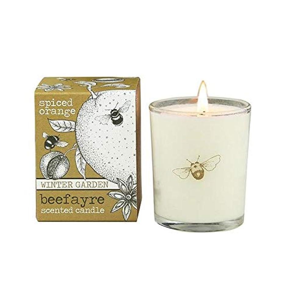 ショット花弁地下[Beefayre] Beefayreスパイスオレンジ色の小さな香りのキャンドル - Beefayre Spiced Orange Small Scented Candle [並行輸入品]