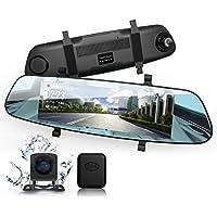 DuDuBell ドライブレコーダー バックミラー型 前後カメラ 外付けGPSアンテナ付 スーパー暗視機能 スターライト技術支持 HDRplus 高速録画 1080P/720P 1200万画素 7.0インチIPSタッチパネル F1.4大口径広角レンズ搭載 AHD技術支持 ストリーミングメデイア技術支持 リアカメラ バックカメラ ミラーモニター バックナビあり 170度広角レンズ Gセンサー 駐車監視 常時録画 ループ録画 動体検知 M1