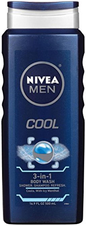 責めるレンジ肉Nivea, 3-in-1 Body Wash, Men, Cool, 16.9 fl oz (500 ml)
