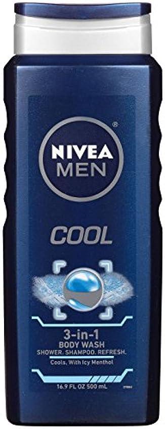 受益者代表結婚Nivea, 3-in-1 Body Wash, Men, Cool, 16.9 fl oz (500 ml)
