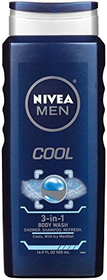 無実無謀砦Nivea, 3-in-1 Body Wash, Men, Cool, 16.9 fl oz (500 ml)
