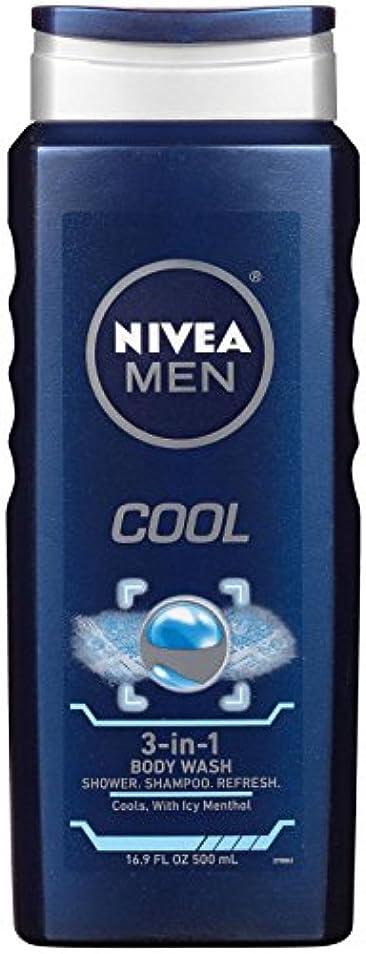 イブ肉製造業Nivea, 3-in-1 Body Wash, Men, Cool, 16.9 fl oz (500 ml)