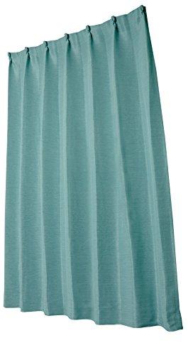 ユニベール 遮光ドレープカーテン エコプレーン2 ターコイズ 幅100×丈200cm 1枚