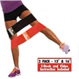 "Hip Resistance Circle - Hip Band 2-Pack | Warmup, Workout & Exercise Loop for Women & Men| Dynamic Glute Activation to Build Perfect Butt, Booty, Thighs & Legs | Non Slip Fabric | 13"" & 16"" Included"