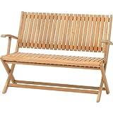 ガーデンベンチ 木製 折りたたみ椅子TeakStyleコスタフォールディングベンチ チーク材