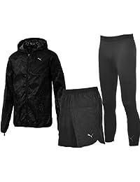 ランニングウェア 3点セット メンズ/プーマ PUMA 男性用 半袖Tシャツ 5インチパンツ ロングタイツ/マラソン ジョギング トレーニング スポーツウェア 516895/517031/517253/Pumaset-H