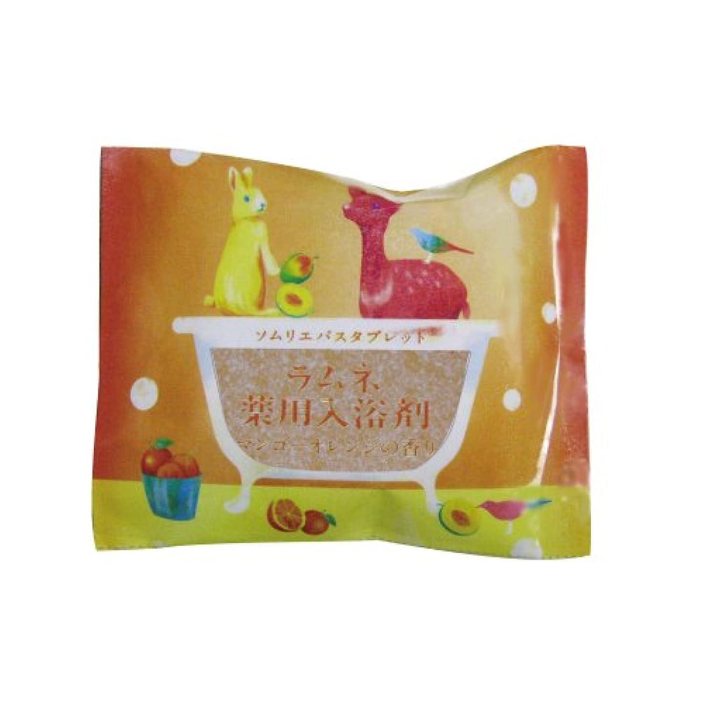 間欠テニス巡礼者ソムリエバスタブレット ラムネ薬用入浴剤 マンゴーオレンジの香り 12個セット
