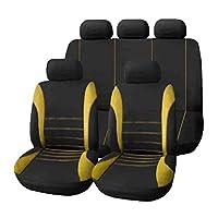 Blackfell 9ピース/セットカーシートカバー快適な防塵シートプロテクターパッドカバーユニバーサルフルシートカバー用自動車車