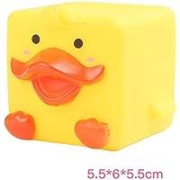 HuaQingPiJu-JP 子供の漫画かわいい動物のダックのバスタブバストイレのおもちゃの水遊びのおもちゃ