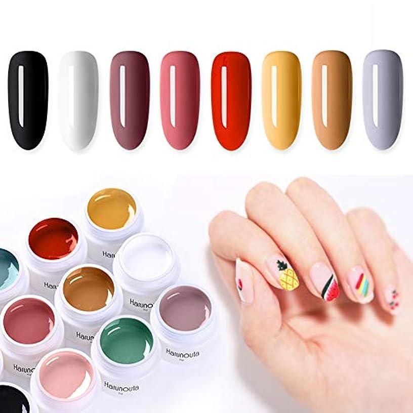 春の歌 カラージェル 8色セット ジェルネイル 5ml UV/LED対応 ソークオフカラージェル 1回だけ塗って発色がいい アートにもできる [並行輸入品]