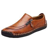 [hitstar] 3色選べ メンズ 革靴 ドライビングシューズ 紳士靴 カジュアル革靴 ビジネスシューズ ローファー ウォーキング 防滑 通気 軽量 (レッド,27.5)