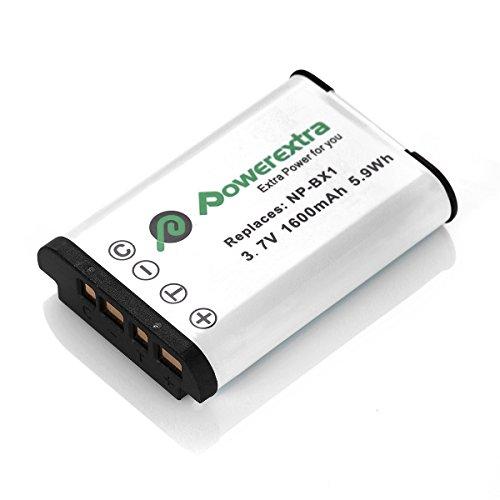 Powerextra NP-BX1 カメラ用純正互換バッテリー2個セット&充電キット アクセサリー Cyber-shot DSC-RX1 DSC-RX100 FDR-X3000 FDR-X3000R 等対応