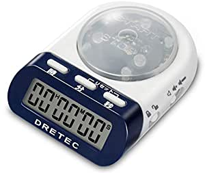 【Amazon.co.jp限定】dretec(ドリテック) 学習用デジタルタイマー 最大セット時間99分59秒 タイムアップ 勉強 時間管理 ネイビー T-400NV