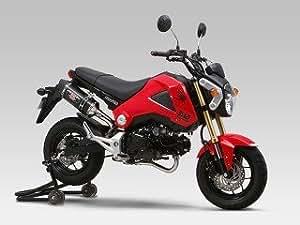 ヨシムラ(YOSHIMURA) バイクマフラー フルエキゾースト 機械曲 R-77S サイクロン カーボンエンド EXPORT SPEC 政府認証 STC チタンカバー/カーボンエンド GROM [125](13-15) 110-40A-5180 バイク オートバイ