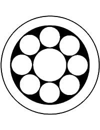 家紋シール 張り紋 黒紋付用 nkp 日向紋 3.9cm 6枚組 丸に九曜星